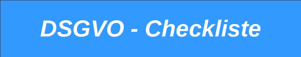 DSGVO – Checkliste